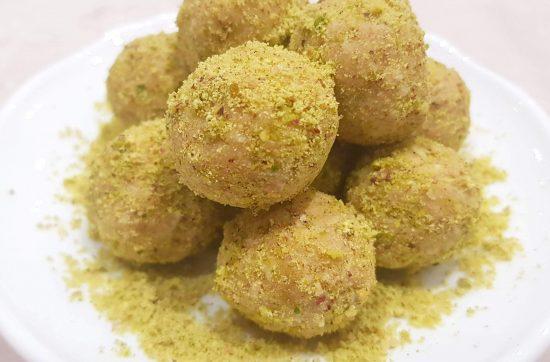 Lemon and Pistachio Protein Balls
