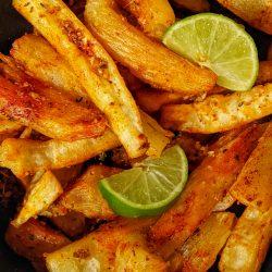 Dry Chilli Garlic Mogo